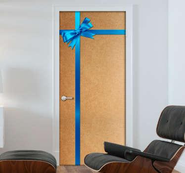 Vinilo para puerta caja de regalo