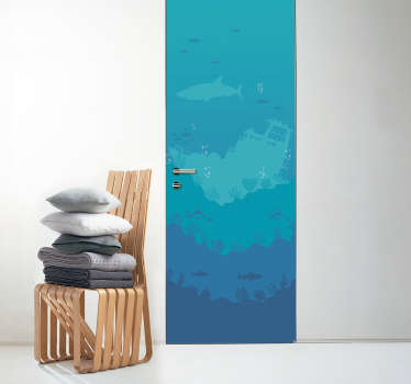 Decorate your door with this superb marine themed 3D door sticker! +10,000 satisfied customers.
