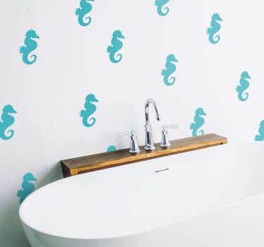 Adesivo murale cavallucci marini