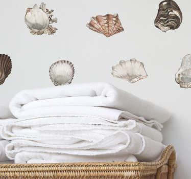 Bring the seashells to you with this fantastic collection of wall stickers! Sign up for 10% off.