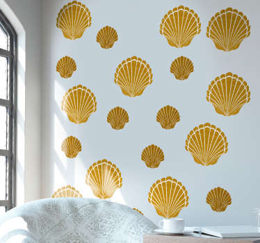 Decorate your bathroom with this superb bathroom sticker selection, depicting shells! Choose your size.