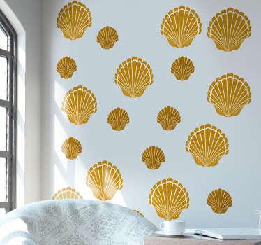 Sticker Salle de Bain Dessin coquillage