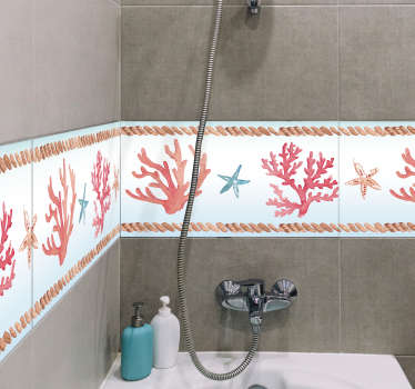 Badkamer sticker zeekoraal