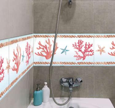 Coral Bathroom Tile Sticker