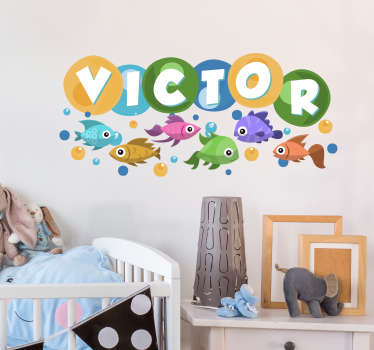 Fishes Name Customisable Sticker