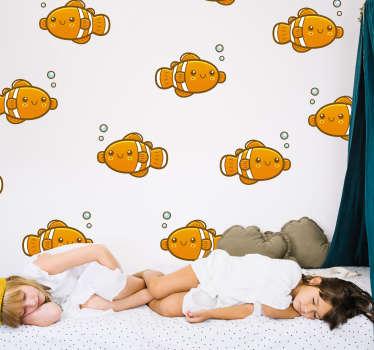 Wandtattoo Tier Clownfisch Fisch Nemo