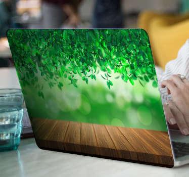 3d autocolant laptop natura