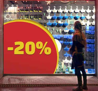 Hjørne salgsfremmende salg klistermærke