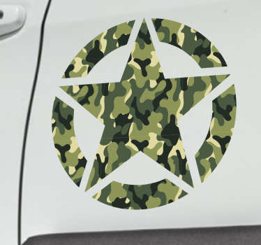 Militær stjernebil klistremerke