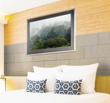 壁の壁画、写真付きのステッカー