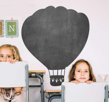 Kinderkamer muursticker luchtballon krijtbord