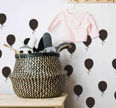 Decorate your wall with this fantastic collection of monocolour themed wall stickers! Easy to apply.