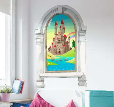 Kinderkamer muursticker sprookjes landschap