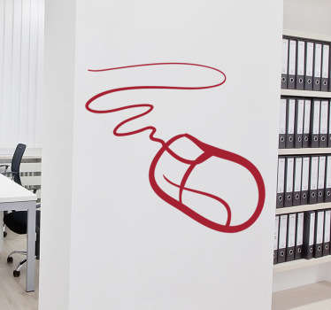Fantastic monochrome wall sticker for creating a professional atmosphere in the office. Use this technology mouse wall sticker to quickly and easily improve the feel of your business fro the employees and clients, available in a wide range of colours and sizes.