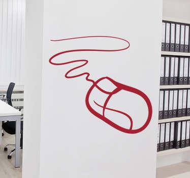 Autocolante decorativo rato informático