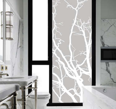 Decorate your bathroom with this fantastic translucent vinyl sticker! Available in 50 colours.