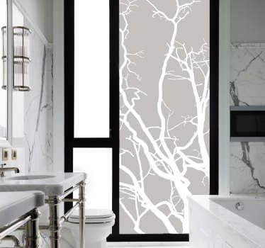Vinilo baño cristal ramas árboles
