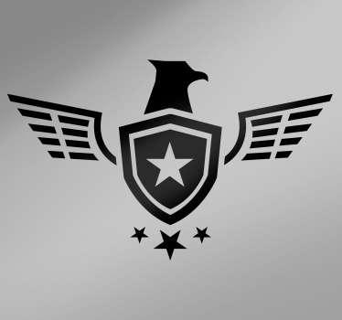 Autocolante para motas estrela militar