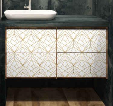 Slaapkamer muursticker geometrisch patroon meubilair