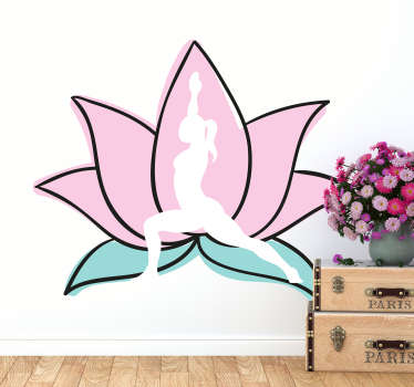 Vinilo pared yoga flor de loto