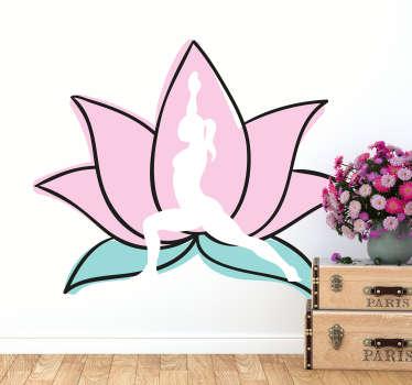 Yoga veggen klistremerke