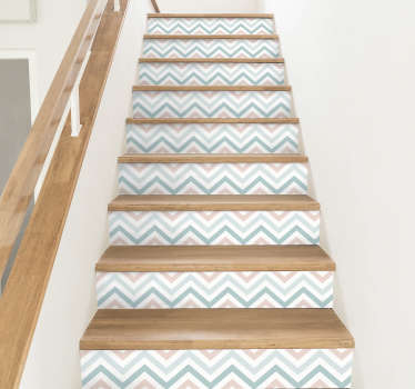 Abstract Pattern Stair Stickers