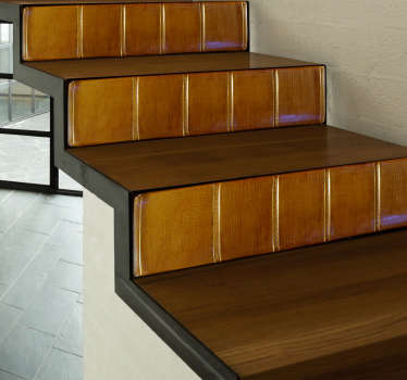 Bøker trapp veggmaleri klistremerke