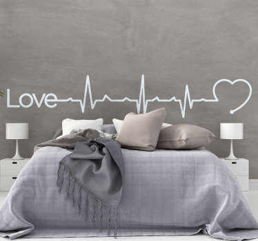 Love Heartbeat Headboard Sticker