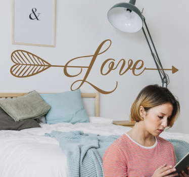 Slaapkamer muursticker pijl liefde