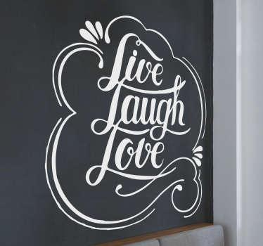 Wandtattoo Wohnzimmer Live Laugh Love Liebe