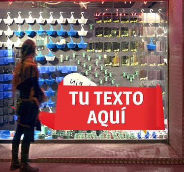 使用此可自定义的商店橱窗贴纸,以新颖的方式装饰店面并促进促销。