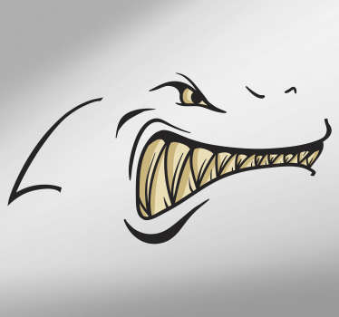 Wandtattoo Tier Hai Zähne Skizze