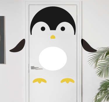 Kinderkamer deursticker pinguïn deur
