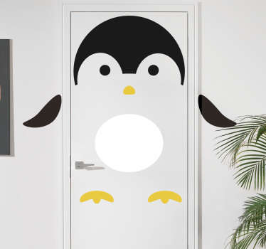Pingviner dyre mur mærkat