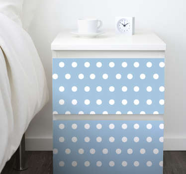 Withe dots ikea wall sticker