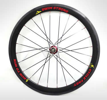Triathlon Bike Wheel Wall Sticker
