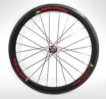 vinilo rueda bicicleta lemas triathlon