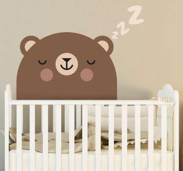 Autocolantes para casa urso dorminhoco