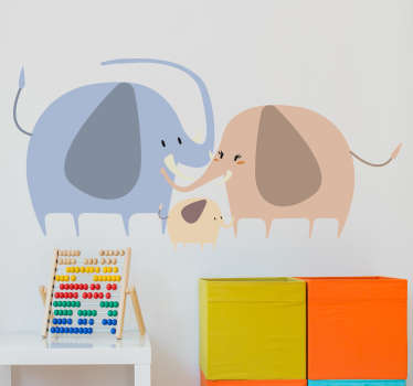 Family of Elephants Wall Sticker