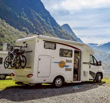 Sun and Clouds Car Sticker