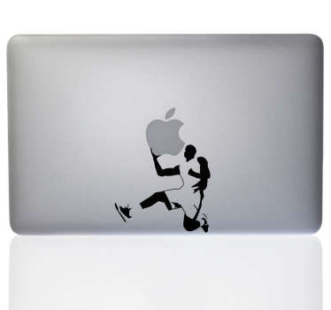 Laptop sticker basketbalspeler voor Macbook