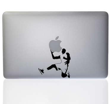 Basketball spiller laptop sticker