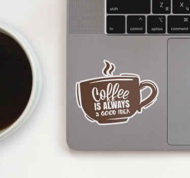 украсьте свой ноутбук этой фантастической наклейкой! кофе всегда хорошая идея, как и эта превосходная наклейка для ноутбука. выберите свой размер.
