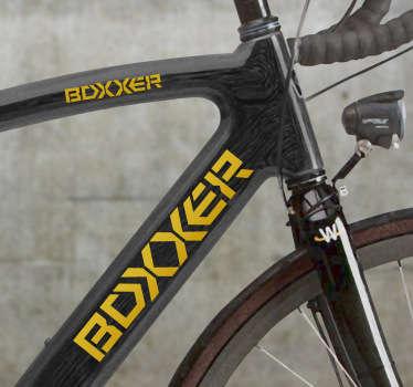 Personaliza a tua bicicleta com os logos mais cool do mercado. Este fantástico autocolante decorativo para bicicletas com o logotipo da Boxxer.