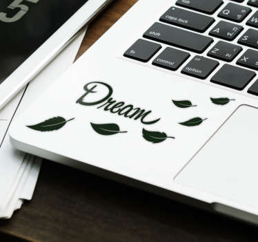 Dream with Leaves Laptop Sticker