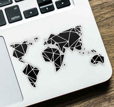 Laptop sticker wereldkaart