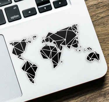 Sticker Zeichnung Mini Weltkarte Laptop