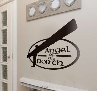 Angel of the North Silhouette Sticker