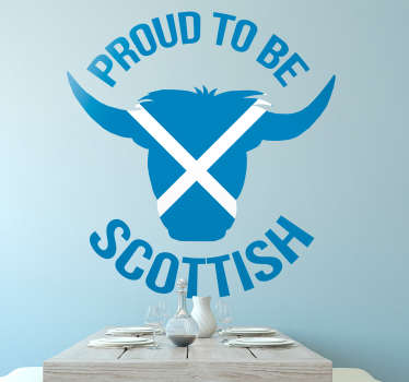 Display your Scottish pride with this wall sticker! Isn´t every Scot proud to be Scottish?! Available in 50 colours. Choose your size.
