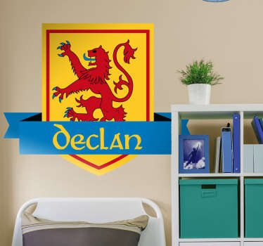 Scottish Coat of Arms Customisable Wall Sticker